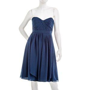 Jenny Yoo Collection short strapless navy dress